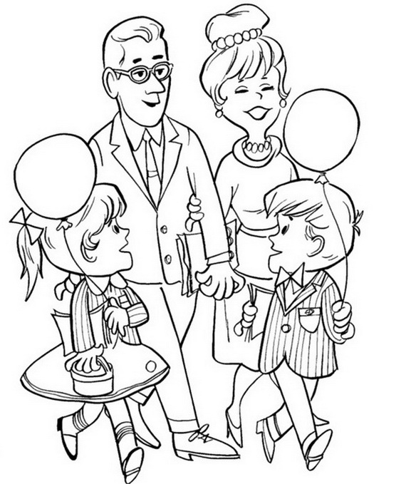 Free Coloring Pages Of African Family