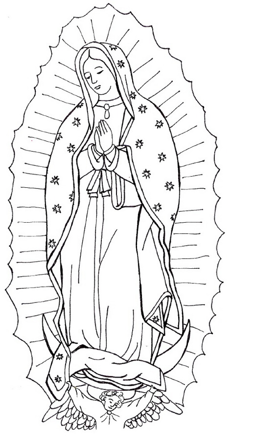 immaculate conception coloring pages family to