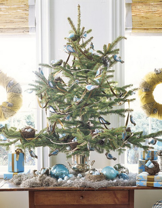 Miniature tabletop christmas tree decorating ideas Christmas table top decorations