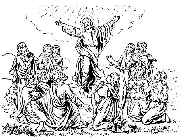 coloring pages ascension of jesus - photo#13