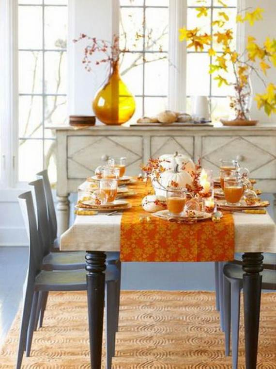 35 beautiful and cozy fall kitchen decor ideas family for Dining room table decorating ideas for fall