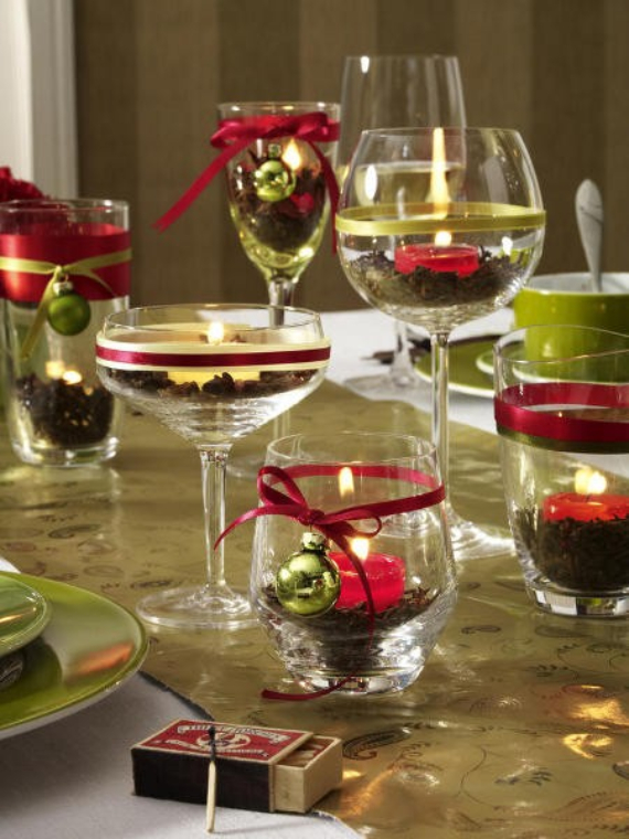 Diy Christmas Decorations For Tables : Diy christmas table setting centerpieces ideas